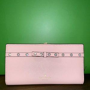 Kaye spade Stacy pink diamond wallet NWT
